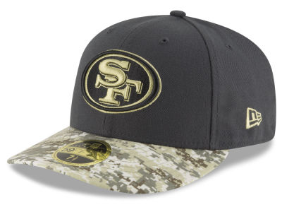 San Francisco 49ers New Era NFL Salute to Service Low Crown 59FIFTY Cap