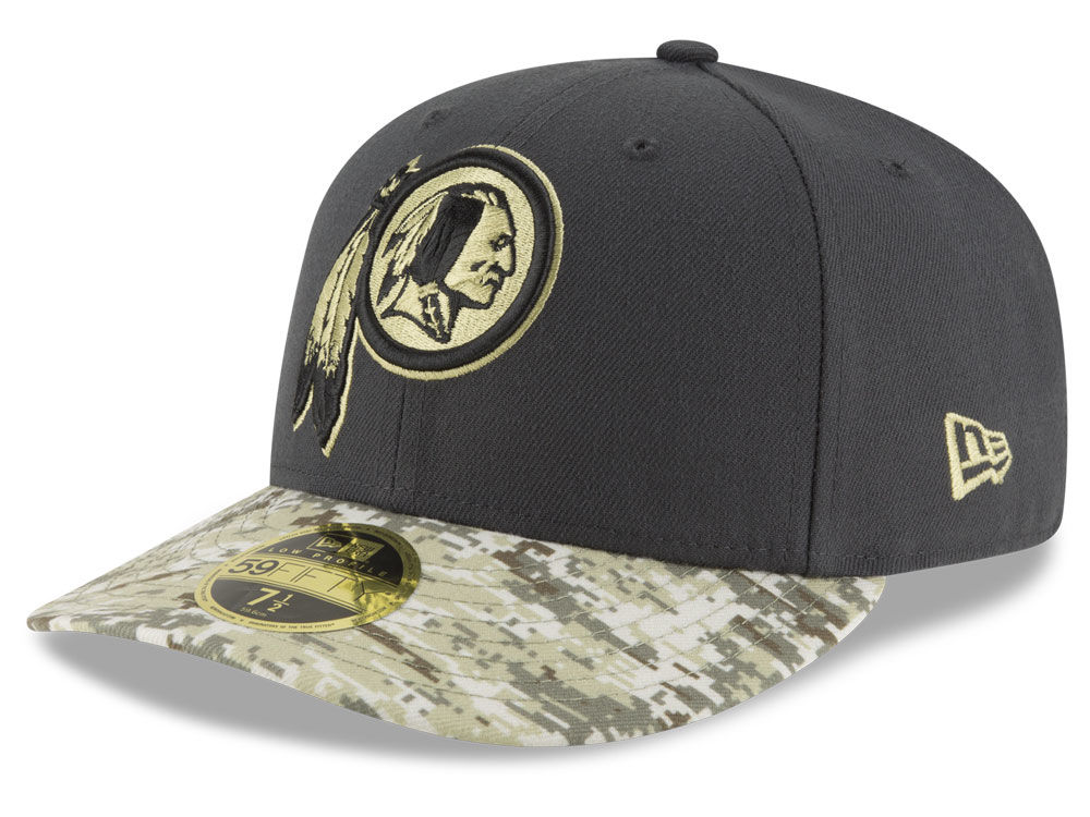 Washington Redskins New Era NFL Salute to Service Low Crown 59FIFTY Cap  2d7576a50