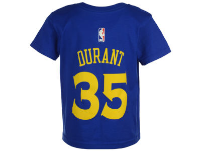 Golden State Warriors Kevin Durant adidas NBA Kids Name And Number T-Shirt