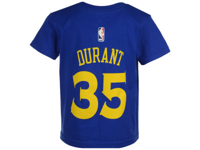 Golden State Warriors Kevin Durant adidas NBA Toddler Name And Number T-Shirt