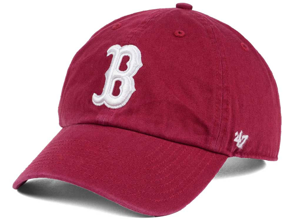 Boston Red Sox  47 MLB Cardinal and White  47 CLEAN UP Cap  4a7c972ab157