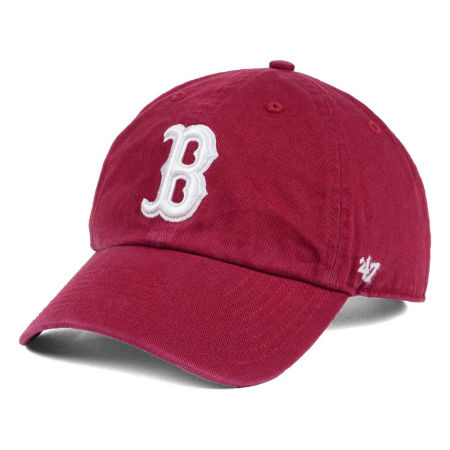 Boston Red Sox '47 MLB Cardinal And White '47 CLEAN UP Cap