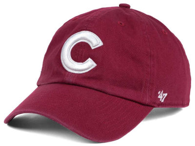 Chicago Cubs '47 MLB Cardinal and White '47 CLEAN UP Cap