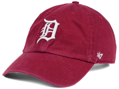 Detroit Tigers '47 MLB Cardinal and White '47 CLEAN UP Cap