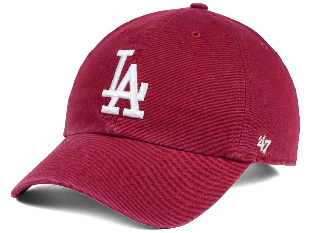 Los Angeles Dodgers  47 MLB Cardinal and White  47 CLEAN ... 91eb52cd62c