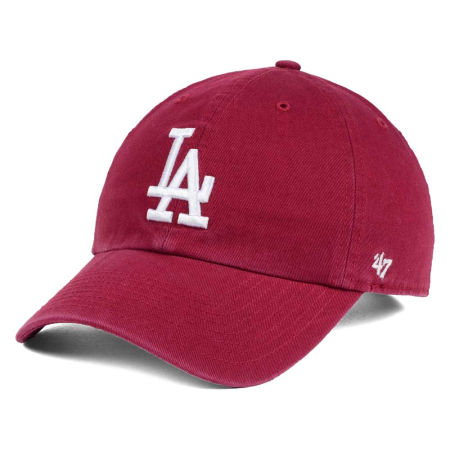 Los Angeles Dodgers '47 MLB Cardinal And White '47 CLEAN UP Cap