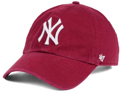 New York Yankees '47 MLB Cardinal and White '47 CLEAN UP Cap