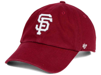 San Francisco Giants '47 MLB Cardinal and White '47 CLEAN UP Cap