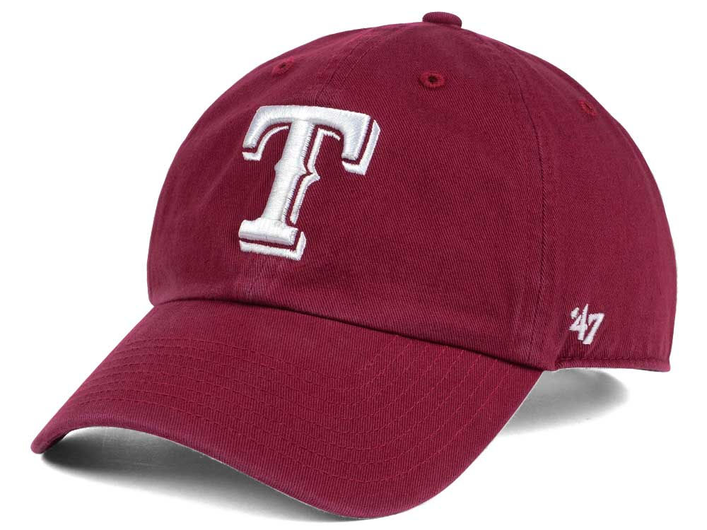 competitive price 4a4c8 12d2b best texas rangers 47 mlb cardinal and white 47 clean up cap 9ca29 27acd