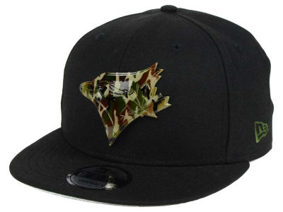 Toronto Blue Jays New Era MLB Camo Metal Logo 9FIFTY Snapback Cap