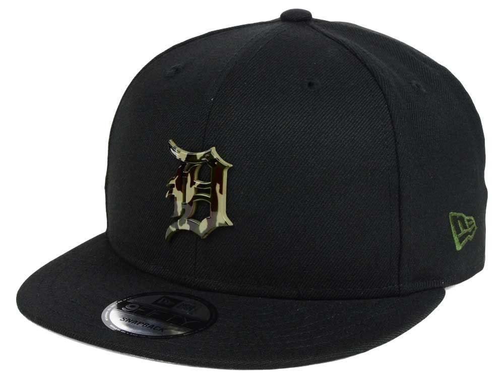 32de01aff13 Detroit Tigers New Era MLB Camo Metal Logo 9FIFTY Snapback Cap