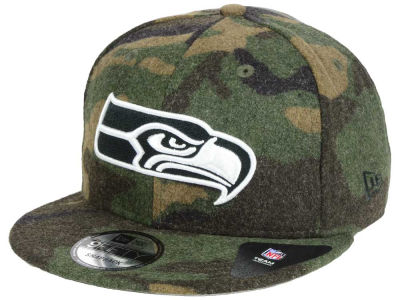 Seattle Seahawks New Era NFL Camo Melton 9FIFTY Snapback Cap