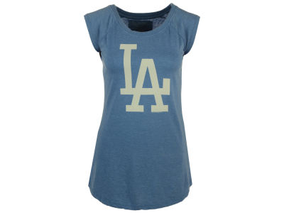 Los Angeles Dodgers Red Jacket MLB Women's Meteor Muscle Tank