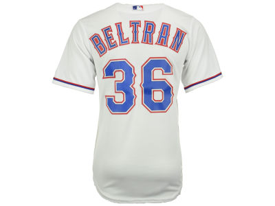 Texas Rangers Carlos Beltran Majestic MLB Men's Player Replica CB Jersey