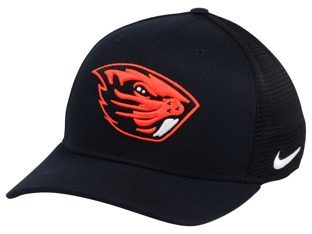 6edba2394 Oregon State Beavers Nike NCAA Aero Bill Mesh Swooshflex Cap   lids.com
