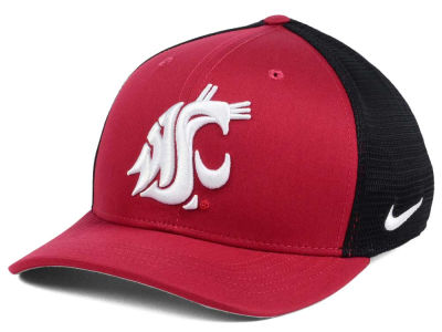 Washington State Cougars Nike NCAA Aero Bill Mesh Swooshflex Cap