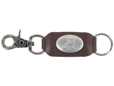 Alabama Crimson Tide Leather Medallion Keychain