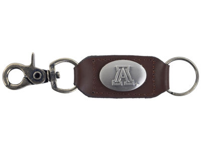Arizona Wildcats Leather Medallion Keychain