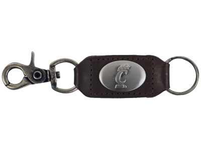 Cincinnati Bearcats Leather Medallion Keychain