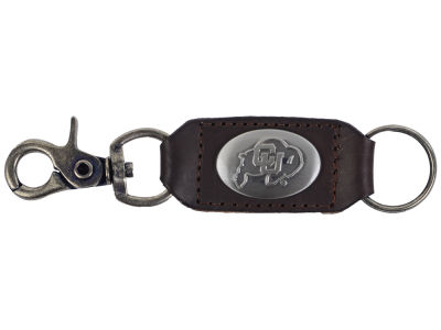 Colorado Buffaloes Leather Medallion Keychain