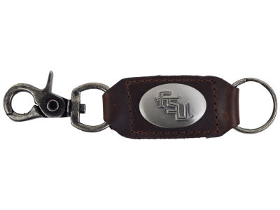 Florida State Seminoles Leather Medallion Keychain