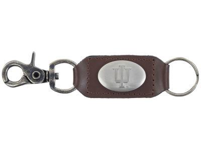 Indiana Hoosiers Leather Medallion Keychain