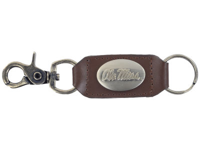 Ole Miss Rebels Leather Medallion Keychain