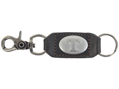 Tennessee Volunteers Leather Medallion Keychain