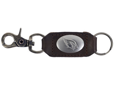 Arizona Cardinals Leather Medallion Keychain