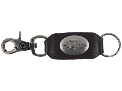 Baltimore Ravens Leather Medallion Keychain