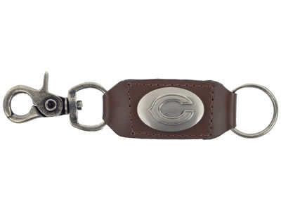 Chicago Bears Leather Medallion Keychain