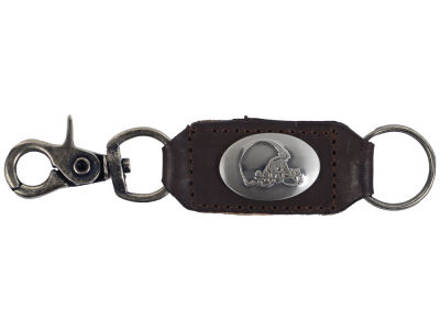 Cleveland Browns Leather Medallion Keychain