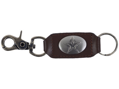 Dallas Cowboys Leather Medallion Keychain