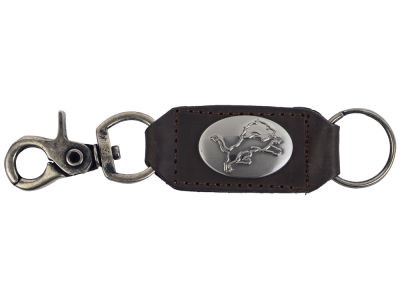 Detroit Lions Leather Medallion Keychain