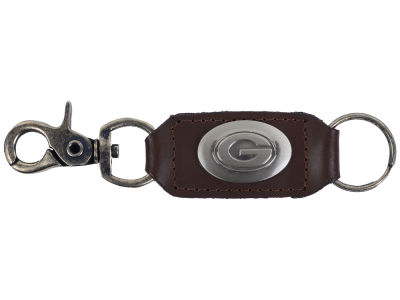 Green Bay Packers Leather Medallion Keychain
