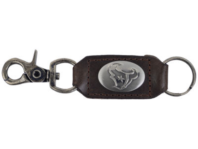 Houston Texans Leather Medallion Keychain