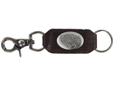 Jacksonville Jaguars Leather Medallion Keychain