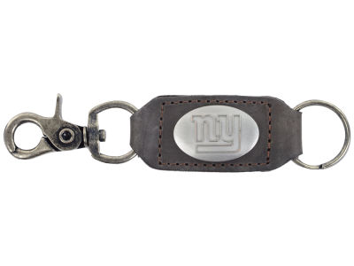 New York Giants Leather Medallion Keychain