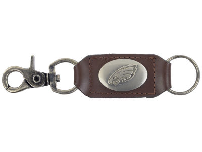 Philadelphia Eagles Leather Medallion Keychain