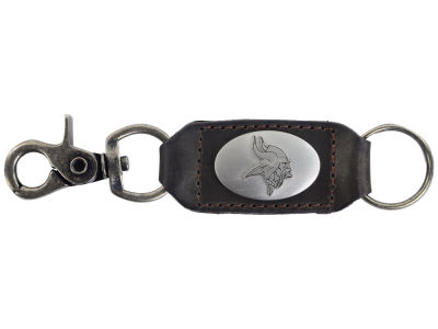 Minnesota Vikings Leather Medallion Keychain