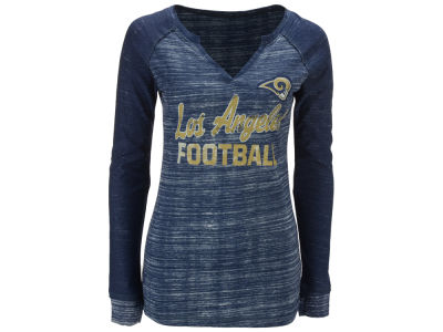 Los Angeles Rams Majestic NFL Women's Lead Play Long Sleeve T-Shirt
