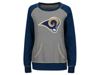 Los Angeles Rams Majestic NFL Women's OT Queen Crew Sweatshirt