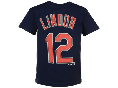 Cleveland Indians Francisco Lindor Majestic MLB Kids Official Player T-Shirt