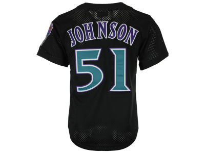 Arizona Diamondbacks Randy Johnson Mitchell & Ness MLB Men's Authentic Mesh Batting Practice V-Neck Jersey