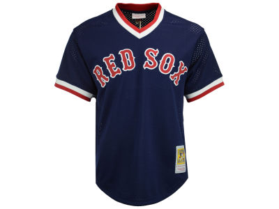 Boston Red Sox Ted Williams Mitchell and Ness MLB Men's Authentic Mesh Batting Practice V-Neck Jersey