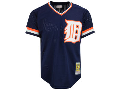 Detroit Tigers Kirk Gibson Mitchell and Ness MLB Men's Authentic Mesh Batting Practice V-Neck Jersey