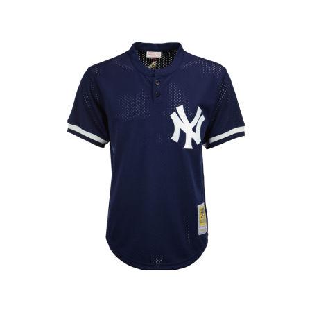 New York Yankees Mariano Rivera Mitchell & Ness MLB Men's Authentic Mesh Batting Practice V-Neck Jersey
