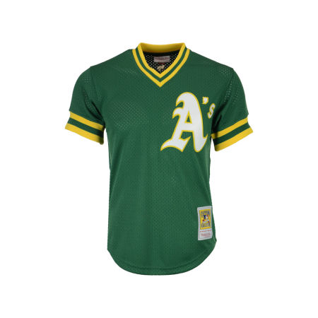 Oakland Athletics Reggie Jackson Mitchell & Ness MLB Men's Authentic Mesh Batting Practice V-Neck Jersey