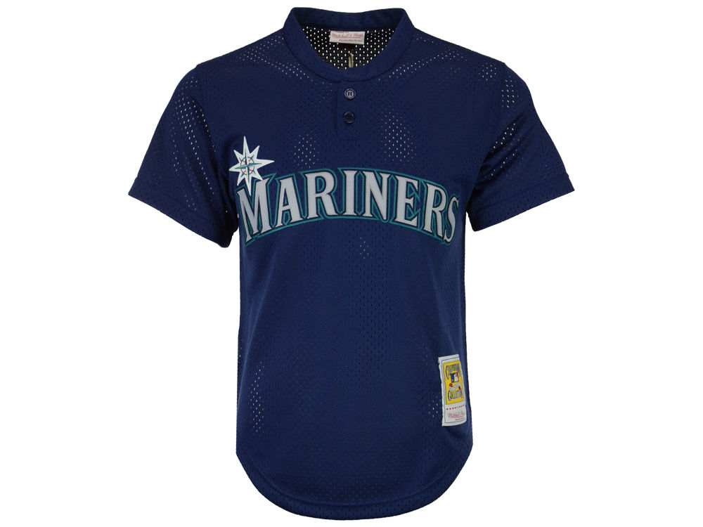 Seattle Mariners Ken Griffey Jr. Mitchell   Ness MLB Men s Authentic Mesh  Batting Practice V-Neck Jersey  45ece82df