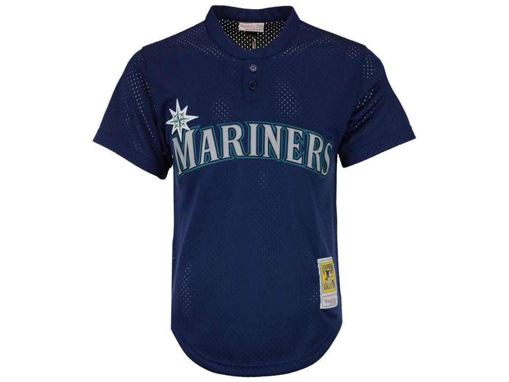 Seattle Mariners Ken Griffey Jr. Mitchell   Ness MLB Men s Authentic Mesh  Batting Practice V ab7067b8a890